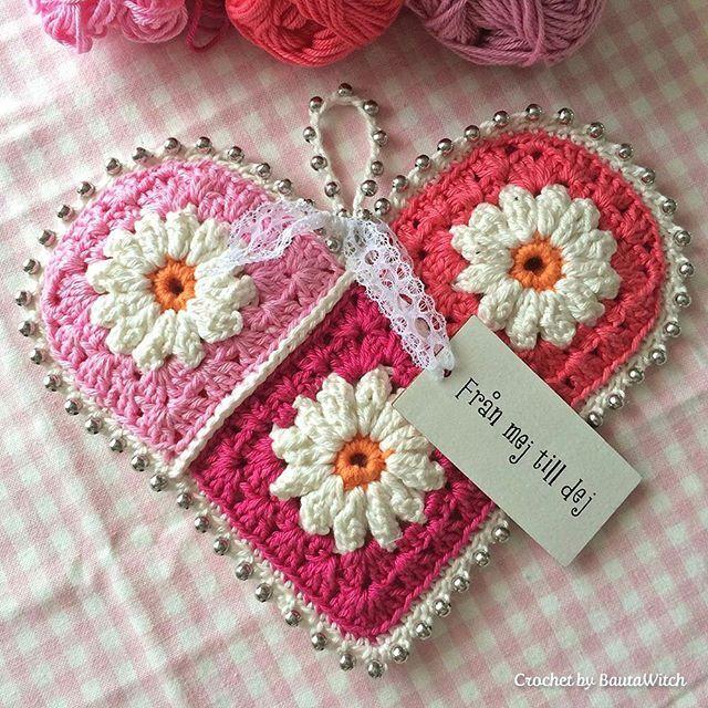 Cute crochet heart diy