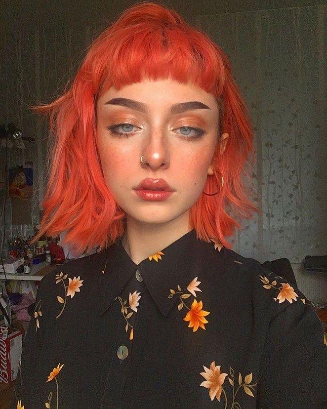 45 Unique Neon Peach Hair Color Trends In 2019