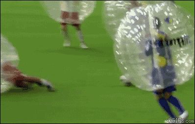 """""""Bubble Soccer"""" Brilliantly Combines Soccer And Bubble Wrap"""