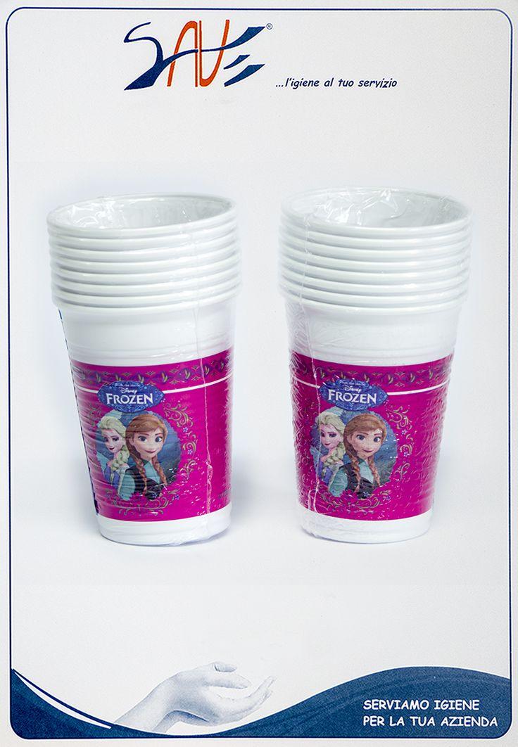 Bicchieri di plastica Frozen Disney per feste