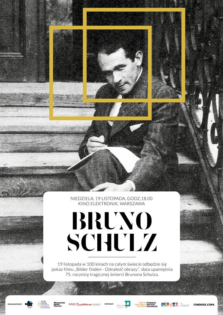Bruno Schulz - Worldwide screening - 100 cinemas remember Bruno Schulz. Warsaw. Movie Poster.