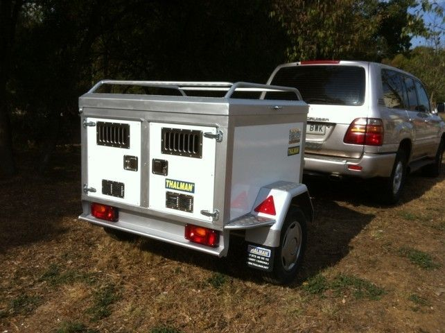 Remolque para perros en dos compartimentos de aluminio, Thalman APP131