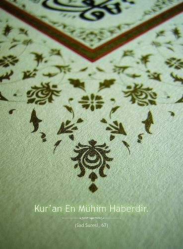 Kur'an en mühim haberdir...