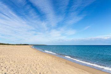 Beautiful beach, sea, sky, cloud