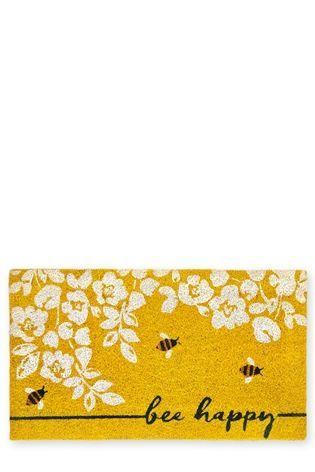 Buy Bee Happy Doormat from the Next UK online shop