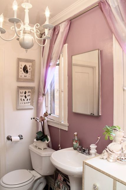 Bathroom for the home pinterest Mauve bathroom