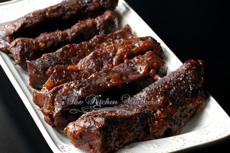 Slow Baked BBQ Boneless Beef ShortRibs-----The Kitchen Whisperer