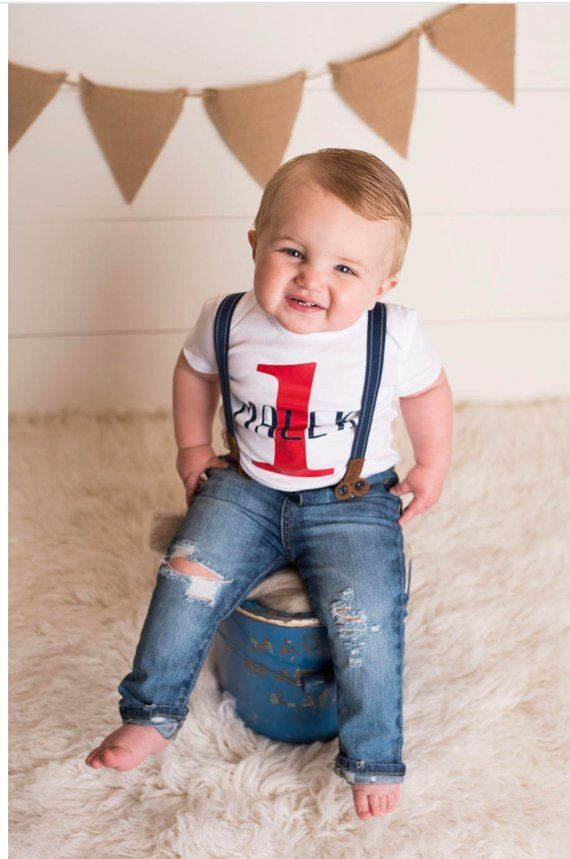 c23110d9203a0 First Birthday Outfit Boy 1st Birthday Personalized Top Distressed ...