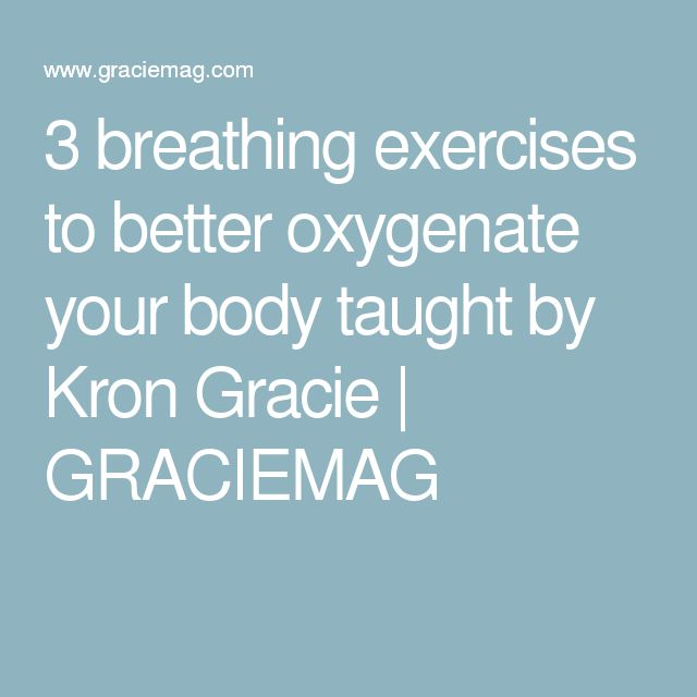3 breathing exercises to better oxygenate your body taught by Kron Gracie | GRACIEMAG
