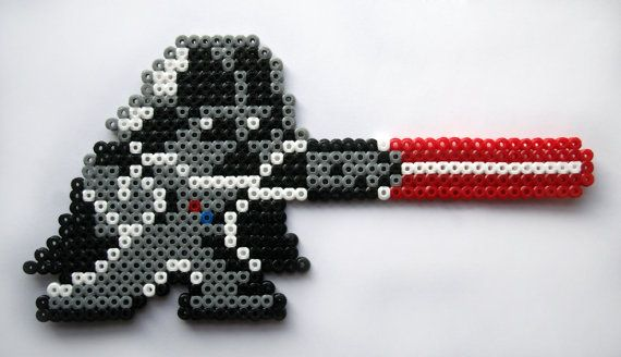 Darth Vader hama midi beads by GeekyPixels