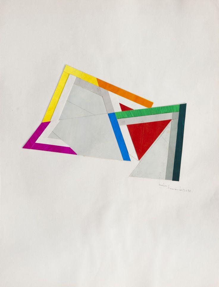 René Roche (1932-1992)  Composition, circa 1984-86  Dix collages sur papier  50 x 65 cm.
