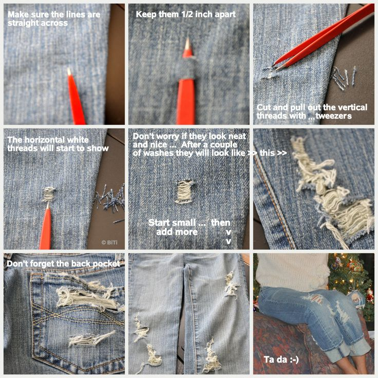 The 13 best images about DIY on Pinterest | Distressed jeans ...