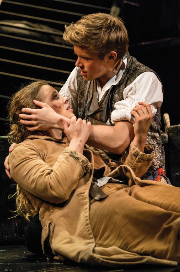 Rob Houchin & Carrie Hope Fletcher. Can't believe they leave Les Mis today :(