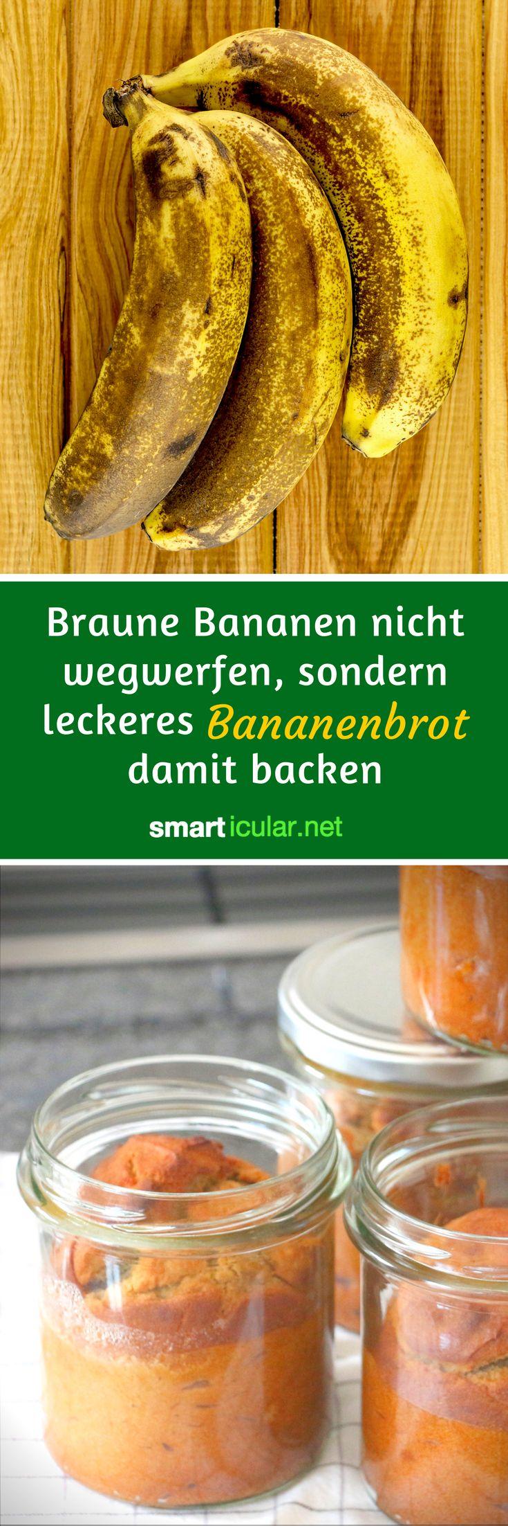 Braune Bananen verwerten? Mit diesem einfachen Rezept für Bananenbrot gelingt das sogar glutenfrei, vegan und ohne zusätzlichen Zucker.