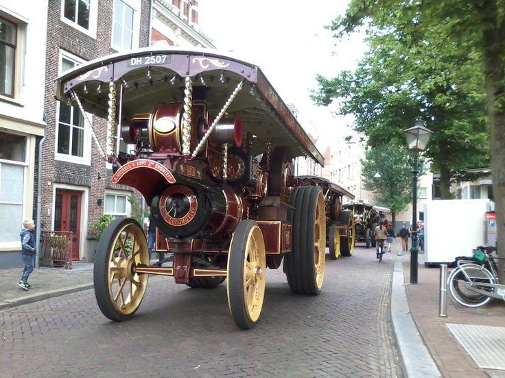 Oude stoom machine tijdens Dort in Stoom