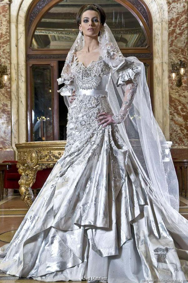 Silver Wedding Dress Ideas : 374 best silver gray wedding inspiration images on pinterest
