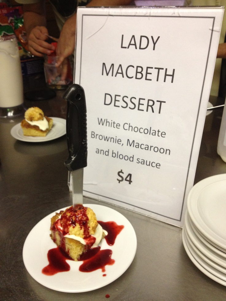 """Cellist Craig Allister Young is helping to satisfy our bloodlust amidst Macbeth rehearsals this week with this delectable """"Lady Macbeth Dessert"""""""