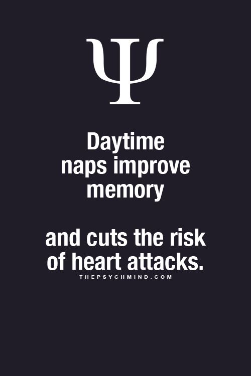 Fun Psychology facts here! Day time naps!! Yes please?!!!