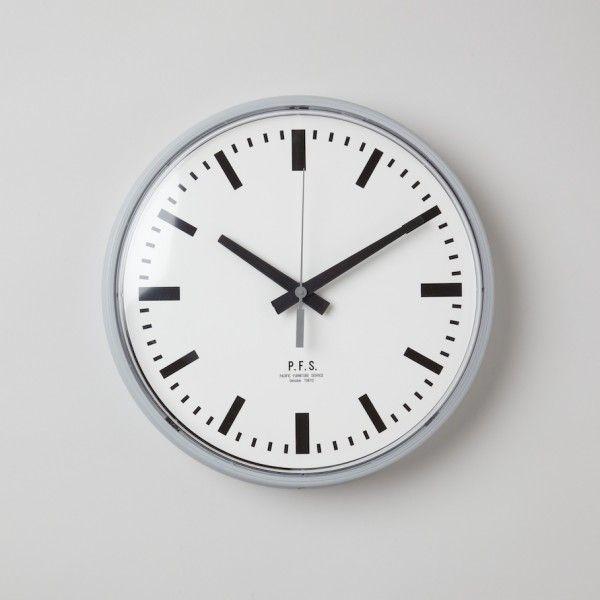 "Pacific Furniture Service - 12"" Wall Clock Grey Bar"
