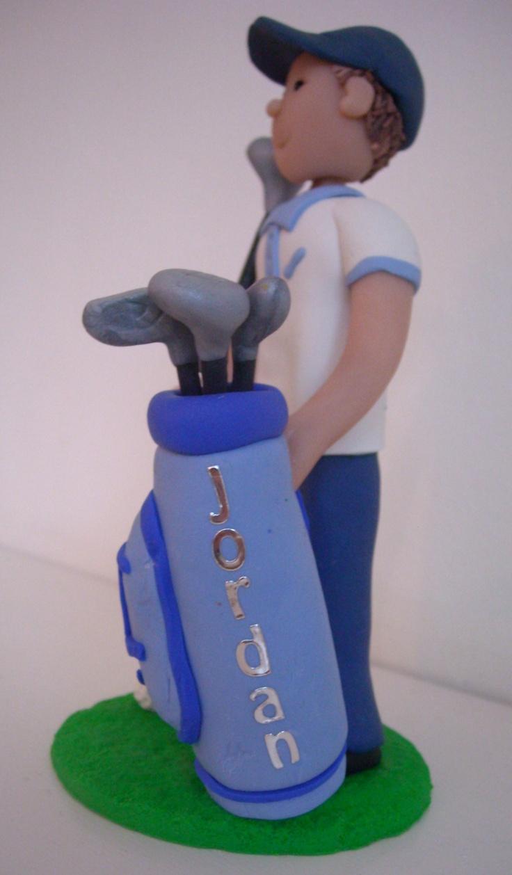 Golfer Cake Topper Tutorial