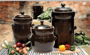 Polish Pickling Sauerkraut Crock Pots with Stone Weights