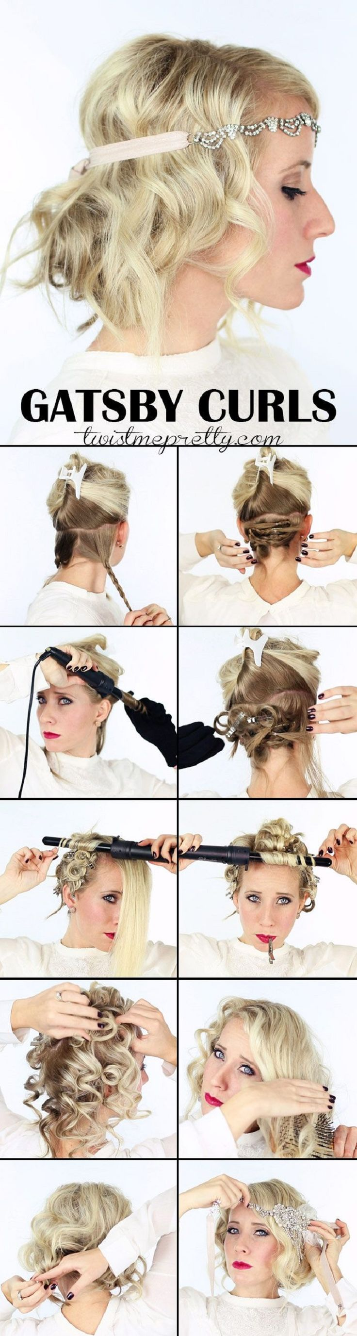 The perfect Gatsby Curls - 12 Vintage-Inspired DIY Hairstyle Tutorials | GleamItUp