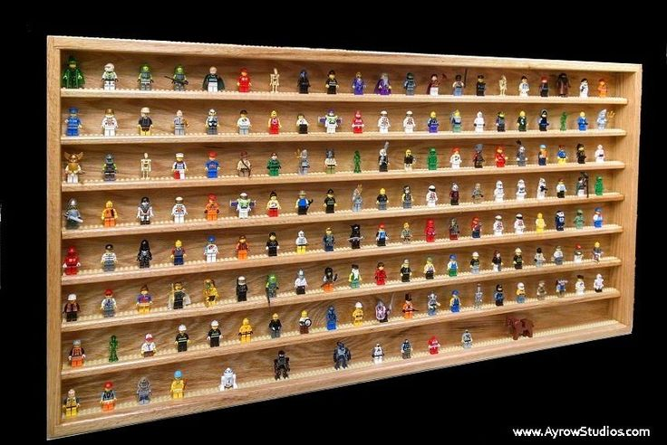 Lego Minifig Minifigure Display Case Quality Handcrafted