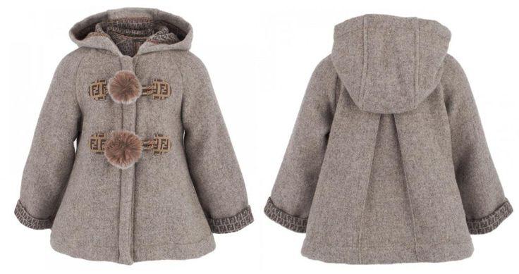 Stunning grey wool coat from @Fendi Huang junior fall winter 2013 kids collection. #grey #fendi #FW13 #fall #winter #fallwinter2013 #children #kids #childrenwear #kidswear #girls #boys