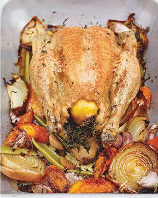 Κοτόπουλο στο φούρνο με λαχανικά δια χειρός Jamie Oliver