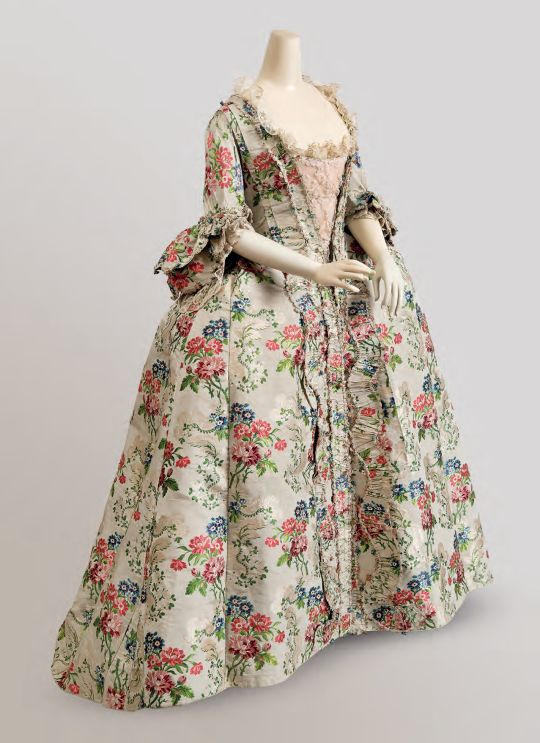 Robe à la française, 1760-75  From Cora GinsburgFripperies and Fobs