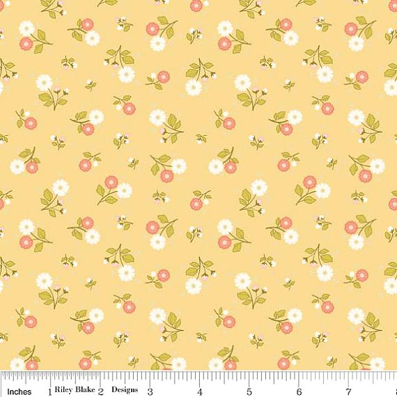 1 yard Riley Blake Marguerite Yellow Calico by TheSewSweetShoppe, $7.99