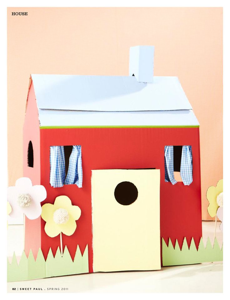 Ideas for a cardboard box house