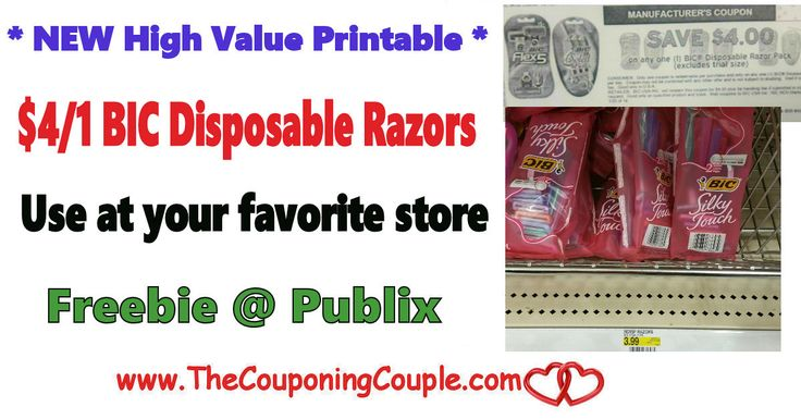 Print This High Value $4/1 Bic Razor Coupon Now  to use at any store ~ Plus Free @ Publix Deal. Get these coupons printed before they are gone!   Click the link below to get all of the details ► http://www.thecouponingcouple.com/print-this-high-value-41-bic-coupon/ #Coupons #Couponing #CouponCommunity  Visit us at http://www.thecouponingcouple.com for more great posts!