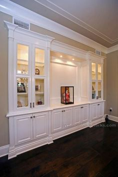 built in living room cabinets with glass doors - Google Search