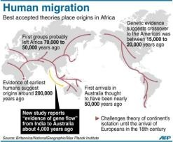 Ancient Indians migrated to Australia and mixed with Aborigines 4,000 years ago, bringing the dingo's ancestor with them, according to new research that re-evaluates the continent's long isolation before European settlement.  The vast southern continent was thought to have been cut off from other populations until Europeans landed at the end of the 1700s, but the latest genetic and archaeological evidence throws that theory out.