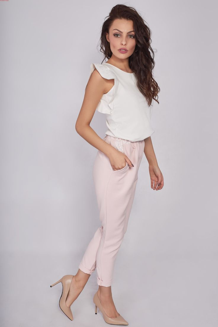 Eleganckie spodnie z koronką
