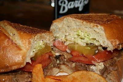 Roast Beef Po'boy Mississippi Style, served with Gravy, Dressed and Pressed, Zapps chips and Barq's Root Beer in the Bottle: Mississippi Style, Step Homemade, Mississippi Roasted, Beef Poboy, Roasted Beef, Step By Step, Beef Po Boys, Homemade Mississippi, Deep South Dishes