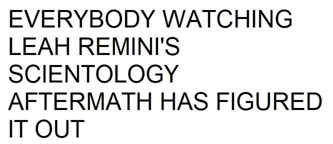 EVERYBODY WATCHING LEAH REMINI'S SCIENTOLOGY AFTERMATH HAS FIGURED IT OUT #LaurenHaggis #PaulHaggis #LizGale #ElizabethGale