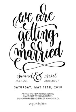 Our Wedding printable invitation template. Customize, add text and photos.  Print, download, send online or order printed!  #invitations #printable #diy #template #wedding