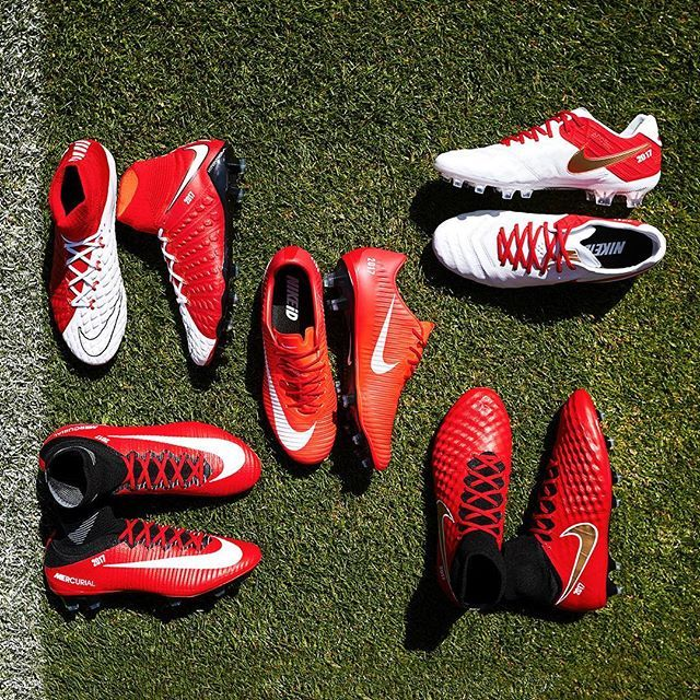 Which one would you pick from the NIKEiD x Monaco pack? 🤔🔴⚪️ Head to footy.com/blog to shop the pack!