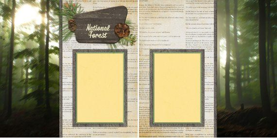 ADVENTURE STARTS HERE EZ Layout 2082 2 Premade Scrapbook Pages