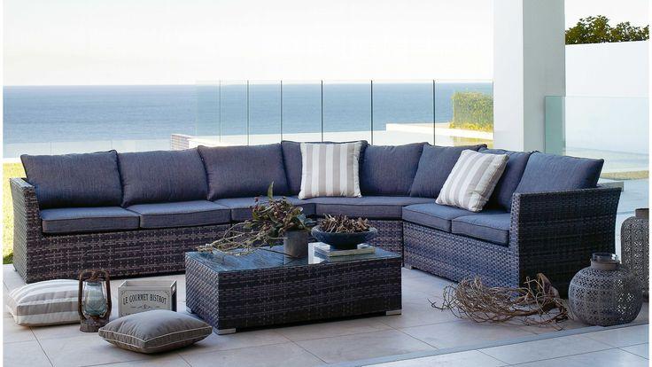 Phuket Wicker Corner Lounge Suite - harvey norman