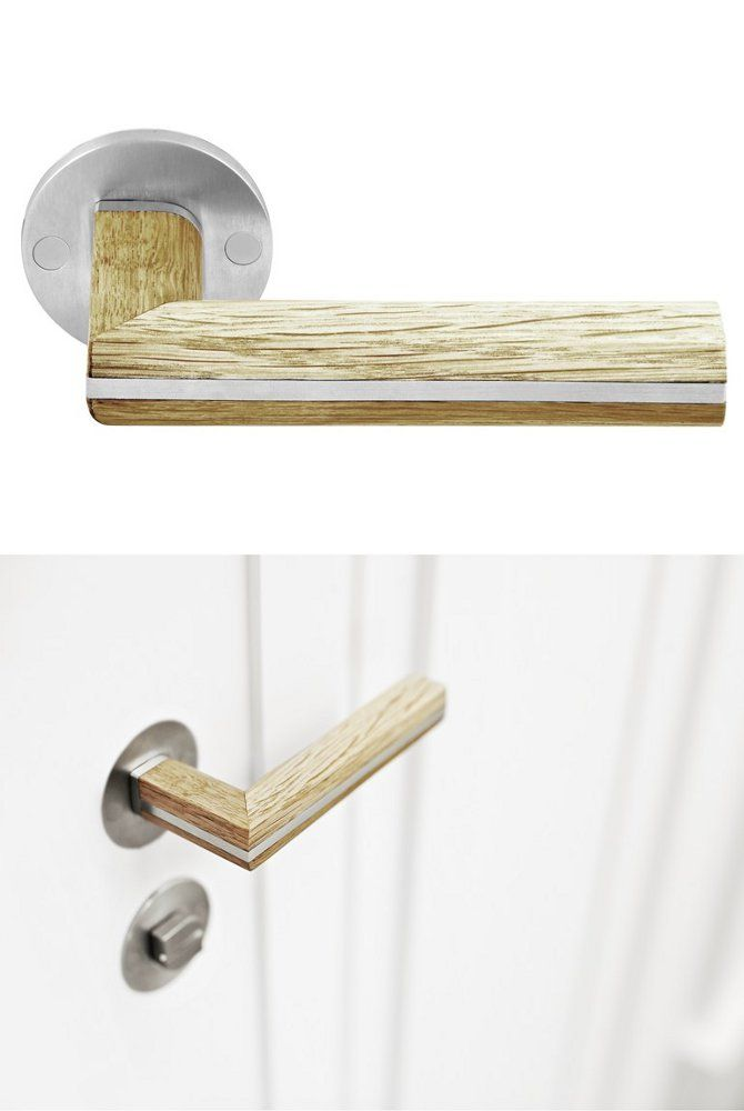 Stainless steel and #wood #door handle TWO by FORMANI® | #design Piet Boon @FORMANI®
