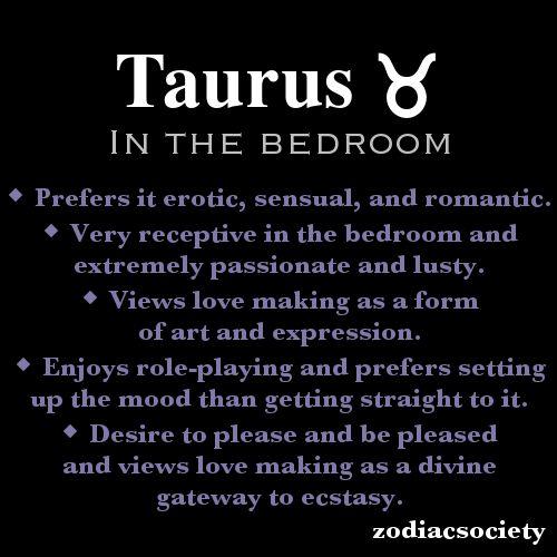 Taurus in the bedroom.