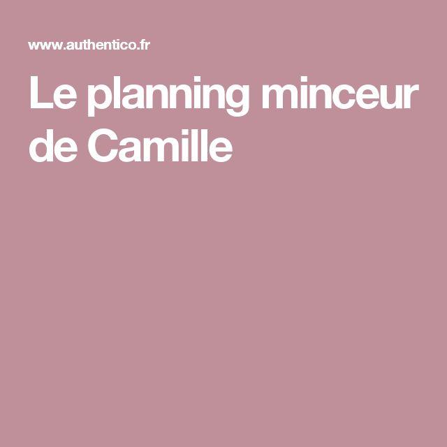 Le planning minceur de Camille