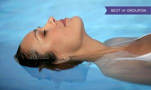 Inside a sensory-deprivation tank without outside light or sound, float in an Epsom-salt solution for enhanced relaxation