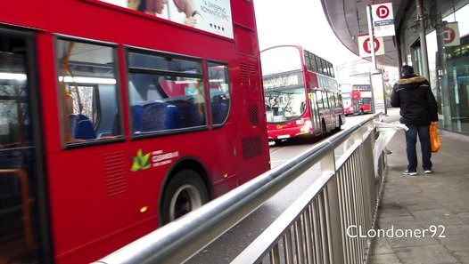 London Buses at North Greenwich & The O2 Bus Station Filmed on 8th December 2016