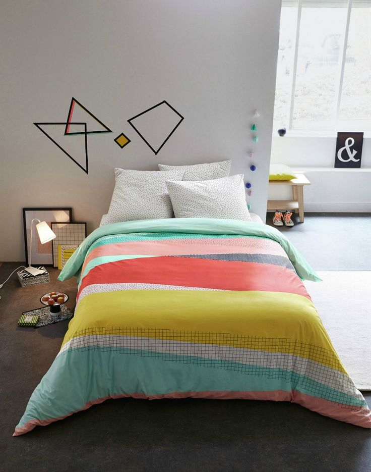 Bedroom Inspiration | Sweet hues & geometric shapes!