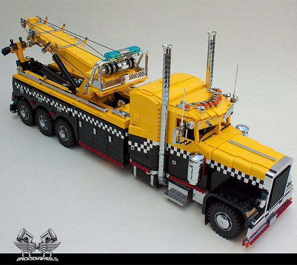 I love a good LEGO build, and this is one of the more impressive designs I've seen in a while. This awesome LEGO Peterbilt tow truck is so detailed that you might just think it was the real thing.