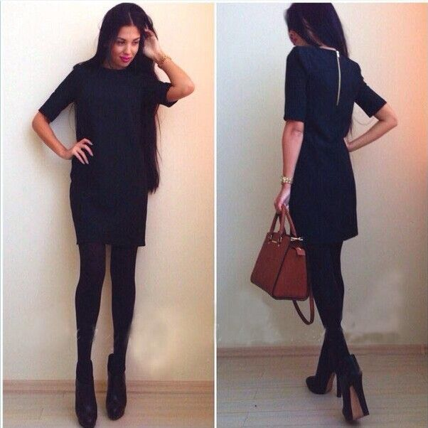 2016 women winter clothes sexy black pencil robes jurken bandage dress robes